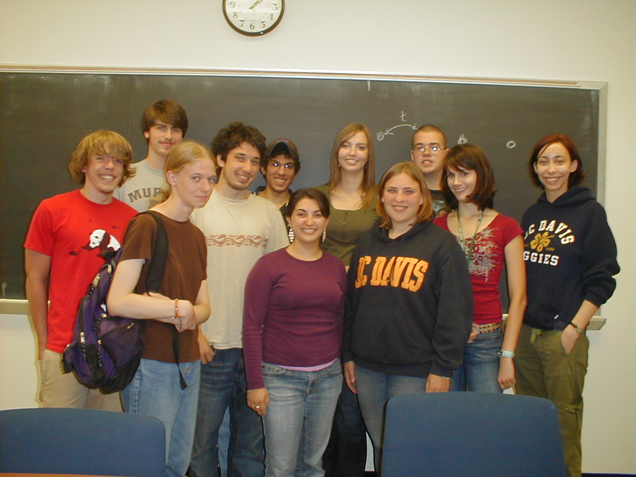 A group photo for the 2006 UC Davis physics REU. You can see me third from the right. Photo from http://london.ucdavis.edu/~reu/REU06/reu06.html